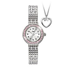 Limit Ladies' Stainless Steel Bracelet Watch & Pendant Set - Product number 1074539