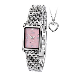 Limit Ladies' Stainless Steel Bracelet Watch & Pendant Set - Product number 1074547