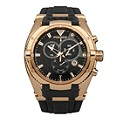 Police Men's Rose Gold Black Strap Watch - Product number 1077562