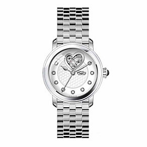 Rotary Ladies' Diamond Dial Stainless Steel Bracelet Watch - Product number 1080865