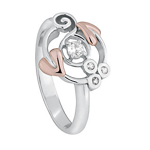 Clogau Silver & 9ct Rose Gold Origin Ring - Product number 1093436