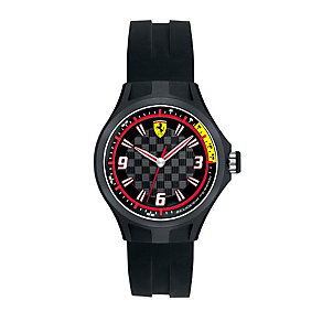 Ferrari ladies' chequered dial rubber strap watch - Product number 1097369