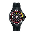Ferrari men's chequered dial black rubber strap watch - Product number 1097385