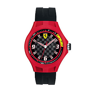 Ferrari men's red ion-plated black rubber strap watch - Product number 1097393