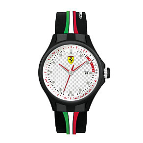 Ferrari men's black ion-plated rubber strap watch - Product number 1097407