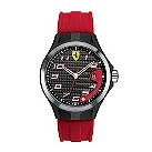 Ferrari men's ion-plated & steel red rubber strap watch - Product number 1097415