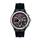 Ferrari men's ion-plated & steel black rubber strap watch - Product number 1097423