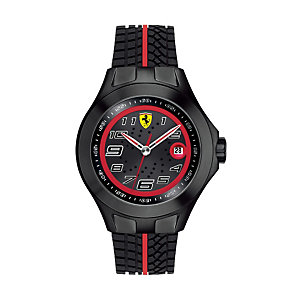 Ferrari black ion-plated rubber tyre strap watch - Product number 1097474