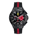 Ferrari men's ion-plated black & red rubber strap watch - Product number 1097482