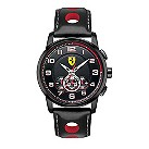 Ferrari men's ion-plated black hole strap watch - Product number 1097555