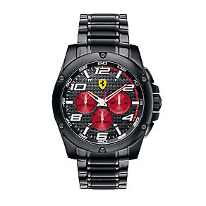 Ferrari men's black ion-plated bracelet watch - Product number 1097571