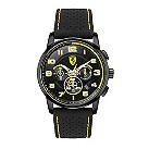 Ferrari men's ion-plated black & yellow strap watch - Product number 1097628