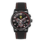 Ferrari men's ion-plated black & red strap watch - Product number 1097636