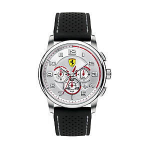 Ferrari men's stainless steel black strap watch - Product number 1097644