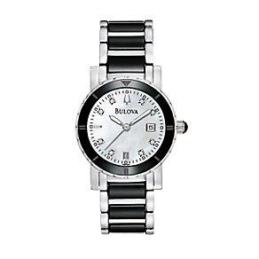 Bulova Ladies' Diamond Stainless Steel Bracelet Watch - Product number 1098861