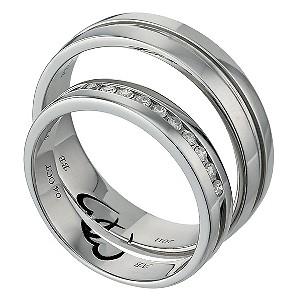 H Samuel Mens Palladium Wedding Ring
