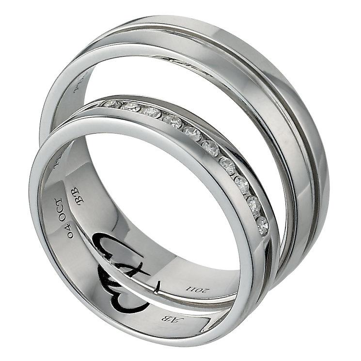 H Samuel Mens Palladium Ring
