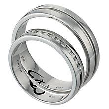 Commitment Palladium 950 1/10 Carat Diamond Ring Set - Product number 1101366