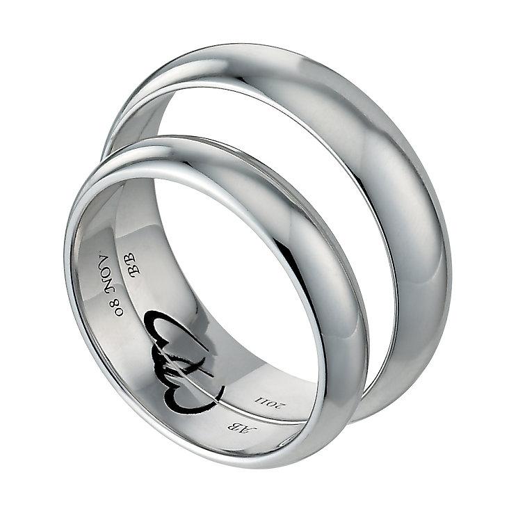 commitment 9ct white gold ring set h samuel