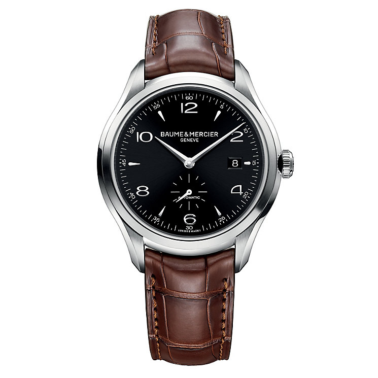 Baume & Mercier Clifton men's automatic brown strap watch - Product number 1103458