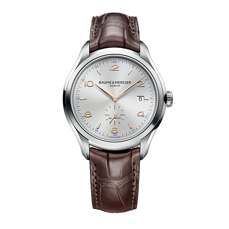 Baume & Mercier Clifton men's automatic brown strap watch