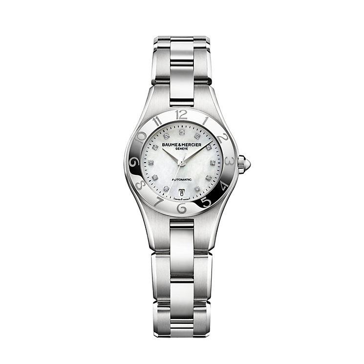Baume & Mercier Linear ladies' diamond steel bracelet watch - Product number 1103504