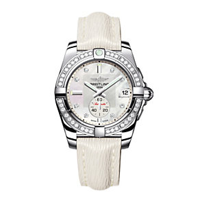 Breitling Galactic 32 ladies' white leather strap watch - Product number 1107712