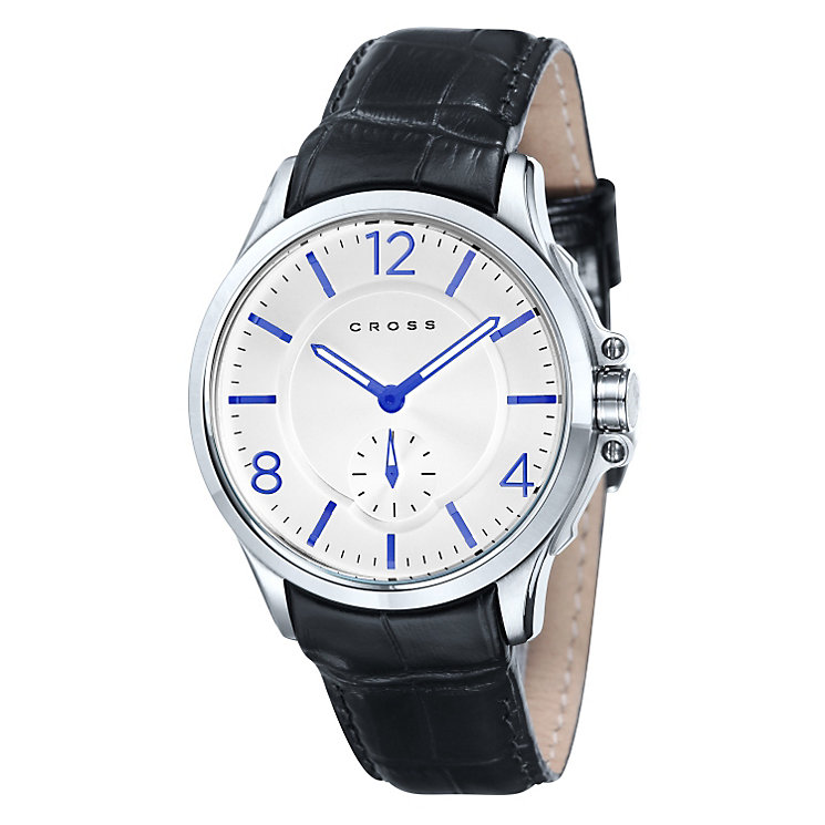 Cross Helevitica Men's Steel Black Leather Strap Watch - Product number 1109332