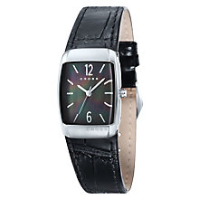 Cross Arial Men's Black Mother of Pearl Dial Strap Watch - Product number 1109448