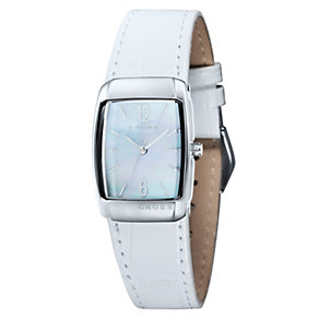 Cross Arial Ladies' Mother of Pearl Dial White Strap Watch - Product number 1109456