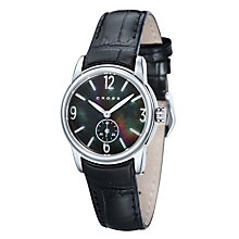 Cross Palatino Ladies' Steel Black Leather Strap Watch - Product number 1109472