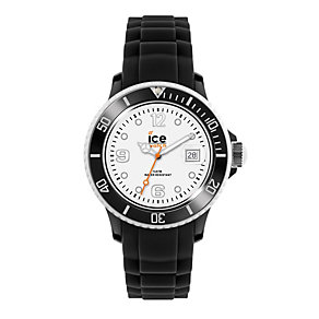 Ice-Watch Men's White Dial Black Silicone Strap Watch - Product number 1109529
