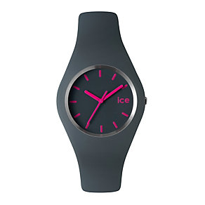 Ice-Watch Ladies' Grey & Pink Silicone Strap Watch - Product number 1109693