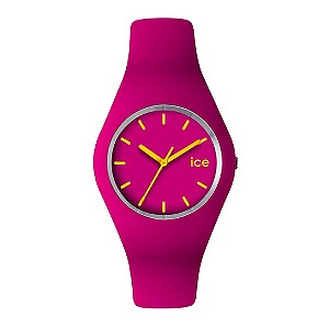 Ice Watch Ladies Pink Amp Yellow Silicone Strap Watch H