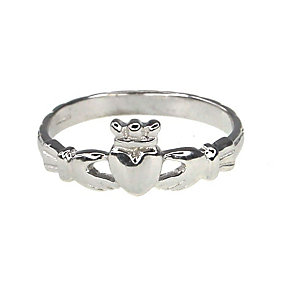 Cailin sterling silver Claddagh ring - size O - Product number 1110047