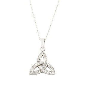 Cailin sterling silver & cubic zirconia Trinity knot pendant - Product number 1110055