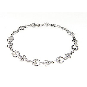Cailin sterling silver Trinity Claddagh bracelet - Product number 1110136