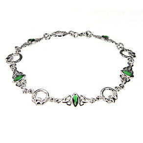 Cailin sterling silver cubic zirconia Claddagh bracelet - Product number 1110187