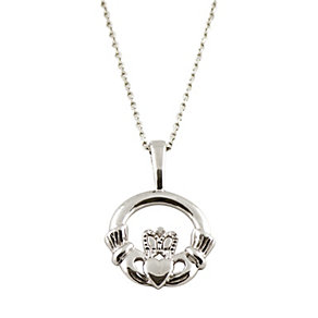 Cailin sterling silver Claddagh pendant necklace - Product number 1110195