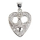 Cailin sterling silver & cubic zirconia heart pendant - Product number 1110268