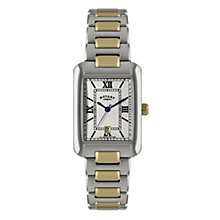 Rotary men's rectangle two colour bracelet watch - Product number 1110691