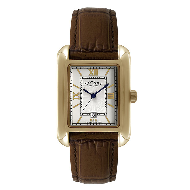 rotary watches ernest jones rotary men s rectangle gold plated bracelet watch product number 1110705