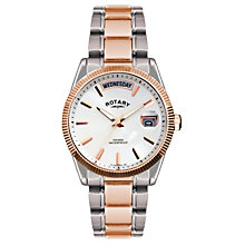 Rotary men's white dial two colour bracelet watch - Product number 1110713