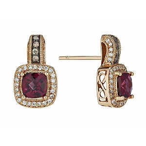 Le Vian 14ct Strawberry Gold® diamond & garnet earrings - Product number 1113348