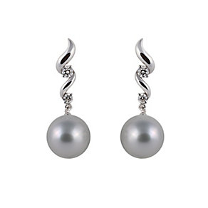 Yoko London 18ct white gold South Sea pearl diamond earrings - Product number 1113496