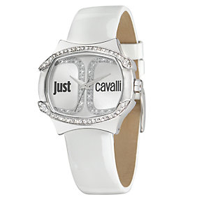 Just Cavalli Ladies' Stainless Steel White Strap Watch - Product number 1114840