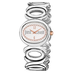 Just Cavalli Ladies' Crystal Stainless Steel Bracelet Watch - Product number 1114956