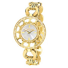 Just Cavalli Ladies' Multi Logo Gold-Plated Bracelet Watch - Product number 1114972