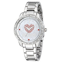 Just Cavalli Ladies' Crystal Heart Steel Bracelet Watch - Product number 1114999