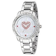 Just Cavalli Ladies' Crystal Heart Steel Bracelet Watch - Product number 1114999